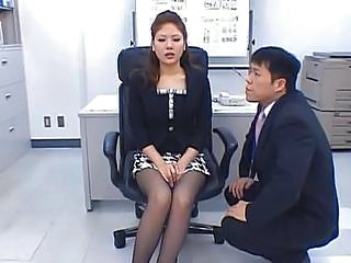 Asian Japanese  Office Stockings Kinky Stockings