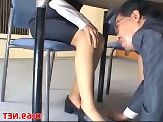 Asian Japanese Legs Office Voyeur