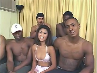 Asian Gangbang Hardcore Interracial  Gangbang Asian