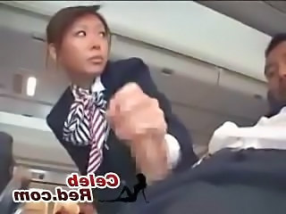 Asian Handjob Japanese  Public Uniform Handjob Asian   Public Asian Stewardess Public