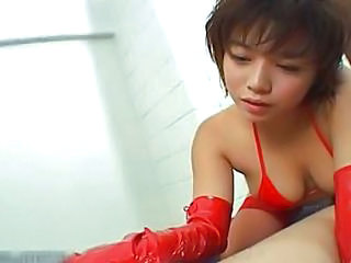 Asian Handjob Japanese Latex  Natural Asian Babe Japanese Babe  Jerk Handjob Asian