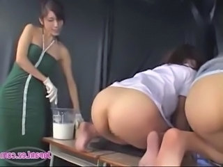 Asian Ass Threesome Toy Enema Schoolgirl School Teacher Teacher Asian