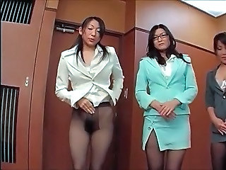 Asian Glasses Japanese  Office Pantyhose Pantyhose       Panty Asian