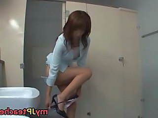 Asian Japanese  Teacher Toilet  Japanese Teacher  Teacher Japanese Teacher Asian Toilet Asian