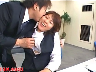Asian Kissing  Office