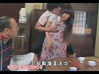 Asian Kitchen Mom Threesome Son Mom Son Mother