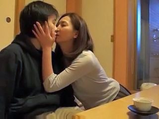 Asian Japanese Kissing  Mom Old and Young Old And Young