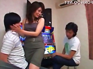 Asian Mom Older Threesome