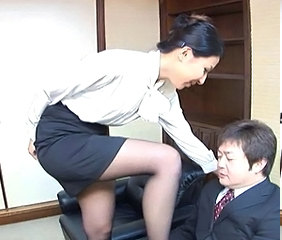 Asian Japanese  Office Secretary Stockings Stockings
