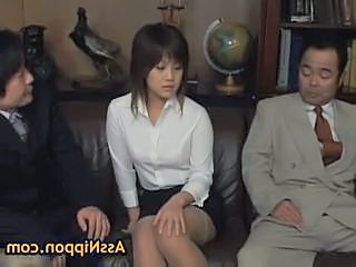 Asian Old and Young Secretary Stockings Threesome Old And Young Stockings
