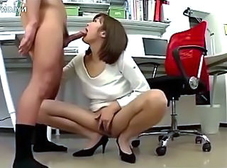 Asian  Blowjob Office Pantyhose Secretary Blowjob Big Cock Pantyhose Nylon Panty Asian Big Cock Asian Big Cock Blowjob
