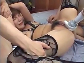 Asian Hairy Hardcore Stockings Toy Stockings