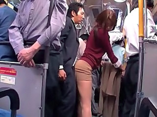 Asian Bus Clothed Japanese  Public   Public Asian Public