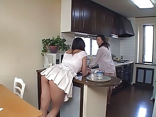 Asian Ass Daughter Japanese Kitchen Mom Old and Young Skirt Daughter Ass Daughter Mom Daughter Old And Young Mom Daughter