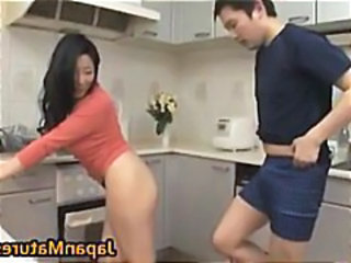 Asian Japanese Kitchen Mature Mom Old and Young Asian Mature Old And Young Japanese Mature Kitchen Mature Mature Asian