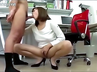 Asian Blowjob  Office Secretary  Pantyhose      Panty Asian