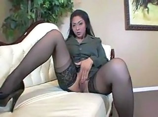 Asian Masturbating  Stockings Stockings
