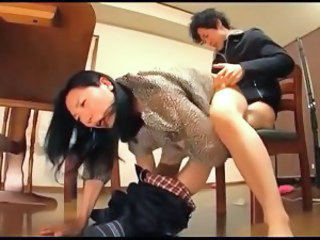 Asian Clothed Hardcore  Mom Old and Young Riding Old And Young