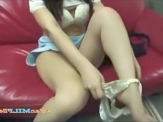 Asian Legs  Fingering Masturbating Toy