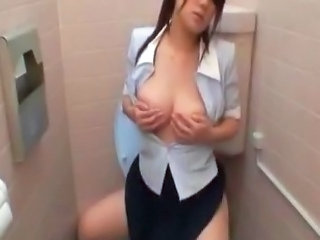 Asian Masturbating  Secretary Toilet    Toilet Asian