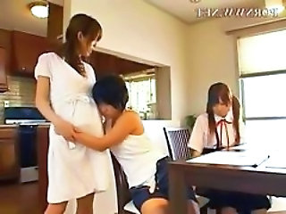 Asian Family Japanese Threesome Family