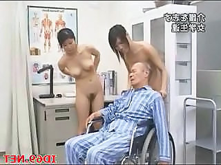 Asian Japanese Old and Young Threesome Old And Young