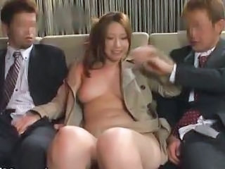 Asian Japanese  Threesome Brutal