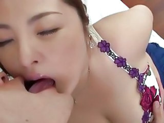 Amazing Asian Japanese Kissing Mom Boobs