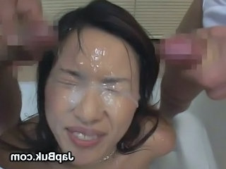 Asian Bukkake Facial Japanese
