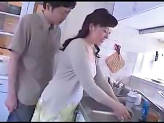 Asian Japanese Kitchen  Mom Old and Young Old And Young Young Girlfriend   Mother
