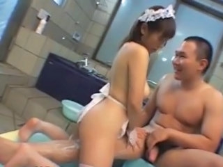 Asian Babe Bathroom Maid Asian Babe Busty Babe Bathroom