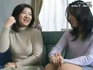 Asian Daughter Japanese Mom Old and Young Daughter Mom Daughter Old And Young Mom Daughter