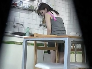 Asian Kitchen Sister Voyeur Sister Kitchen Sex