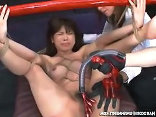 Asian Bondage Fetish Machine Tied