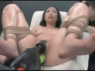 Asian Bondage Machine Orgasm