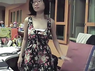 Asian Glasses  Office Secretary Webcam     Webcam Asian