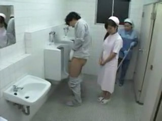 Asian Nurse Threesome Toilet Uniform Jerk Nurse Asian Toilet Asian