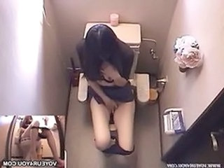 Asian HiddenCam Masturbating Toilet Voyeur Hidden Toilet Toilet Asian