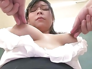 Asian Glasses  Nipples   Milk Teacher Asian