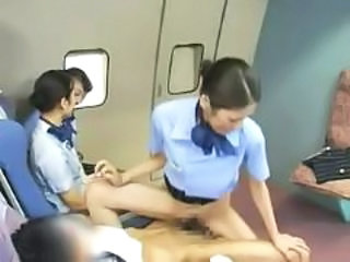 Asian Clothed  Public Riding Uniform  Public Asian Stewardess Public