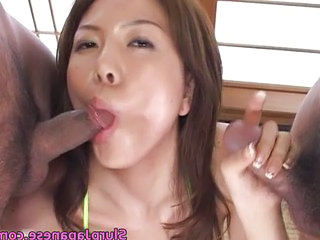 Asian Blowjob Japanese  Small cock Threesome Blowjob Japanese   Japanese Blowjob    Small Cock