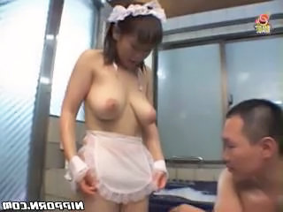 Asian Big Tits Maid Natural Uniform Asian Big Tits Big Tits Asian Tits Maid Mother