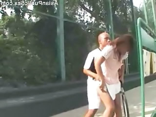 Asian Girlfriend Outdoor Public Sport Outdoor Public Asian Public