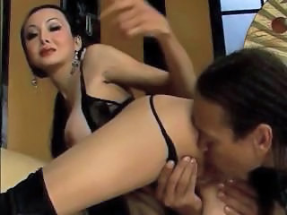 Amazing Asian Chinese Lingerie Licking  Chinese Girl Chinese Lingerie Cock Licking   Nylon Big Cock Asian